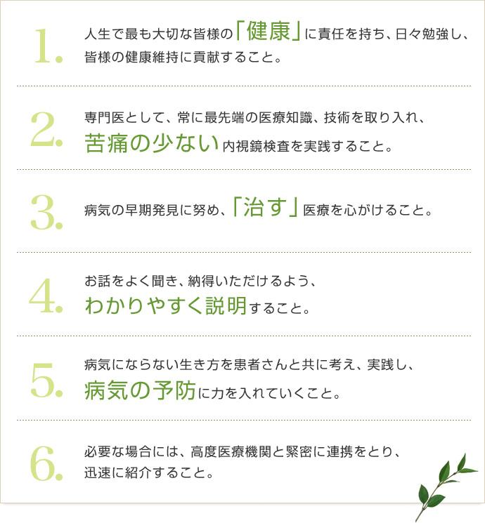 6つの診療方針